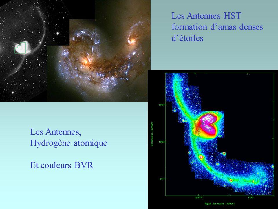 Les Antennes HST formation d'amas denses d'étoiles Les Antennes, Hydrogène atomique Et couleurs BVR