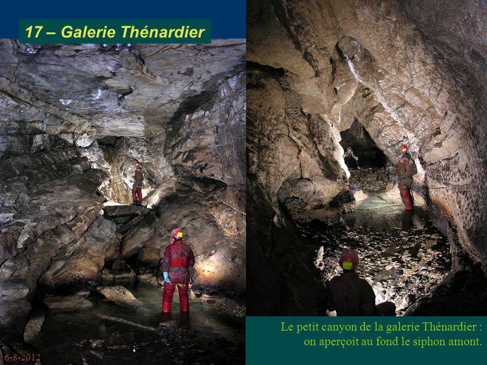 17 – Galerie Thénardier Le petit canyon de la galerie Thénardier :