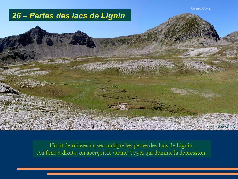 26 – Pertes des lacs de Lignin