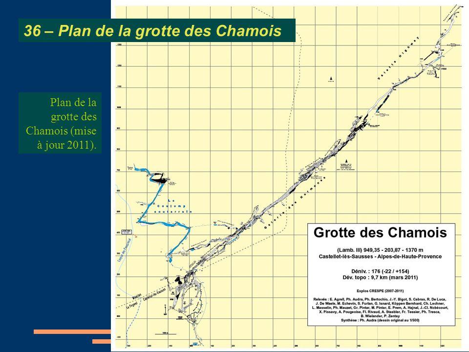 36 – Plan de la grotte des Chamois