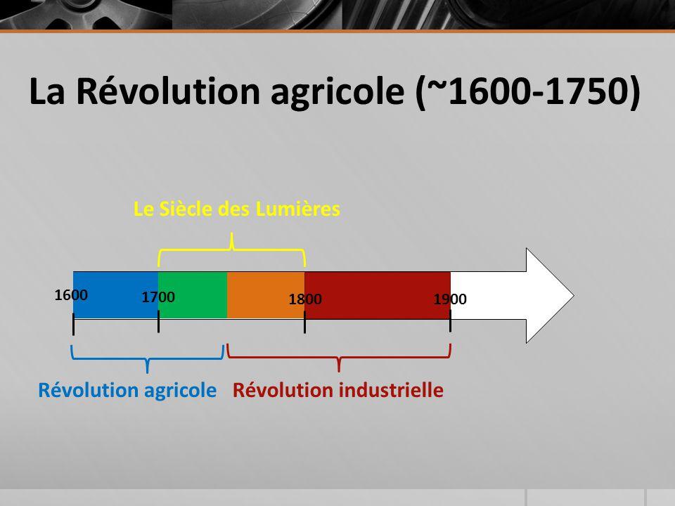 La Révolution agricole (~1600-1750)