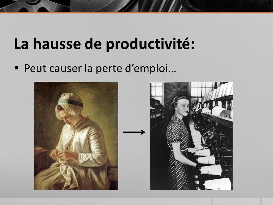 La hausse de productivité: