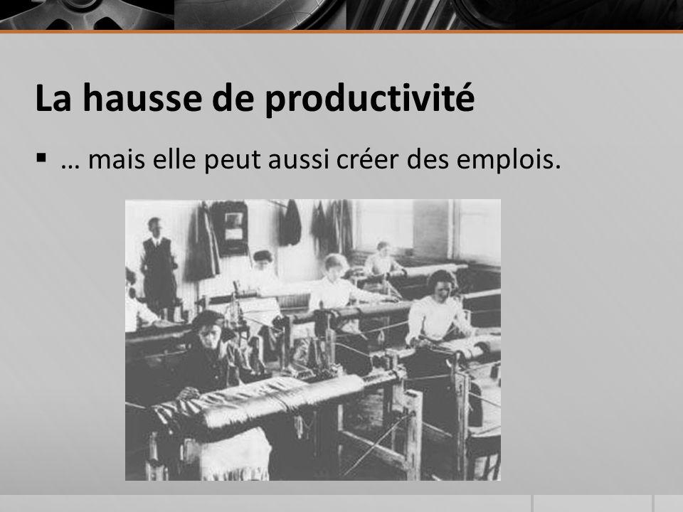 La hausse de productivité