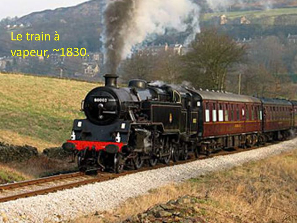 Le train à vapeur, ~1830.