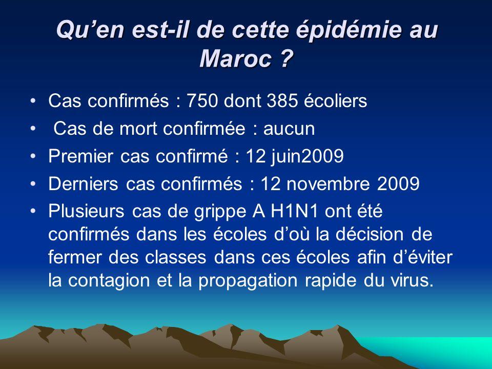 Qu'en est-il de cette épidémie au Maroc