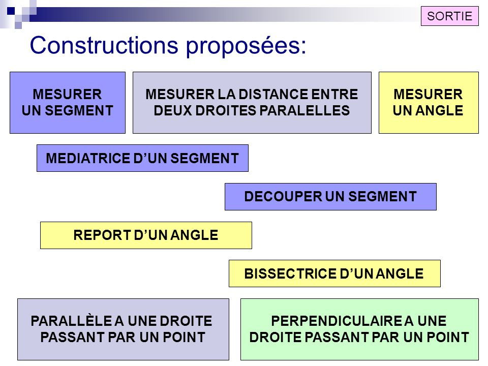 Constructions proposées:
