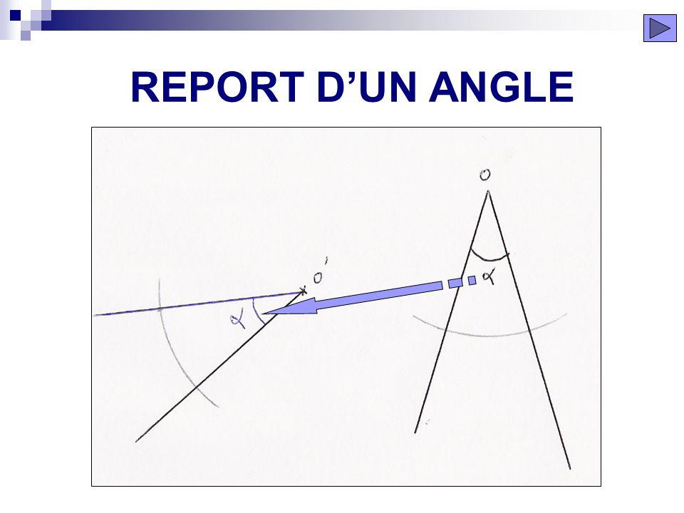REPORT D'UN ANGLE