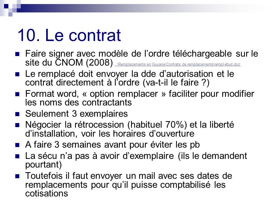 10. Le contrat