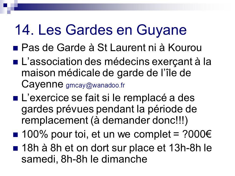 14. Les Gardes en Guyane Pas de Garde à St Laurent ni à Kourou