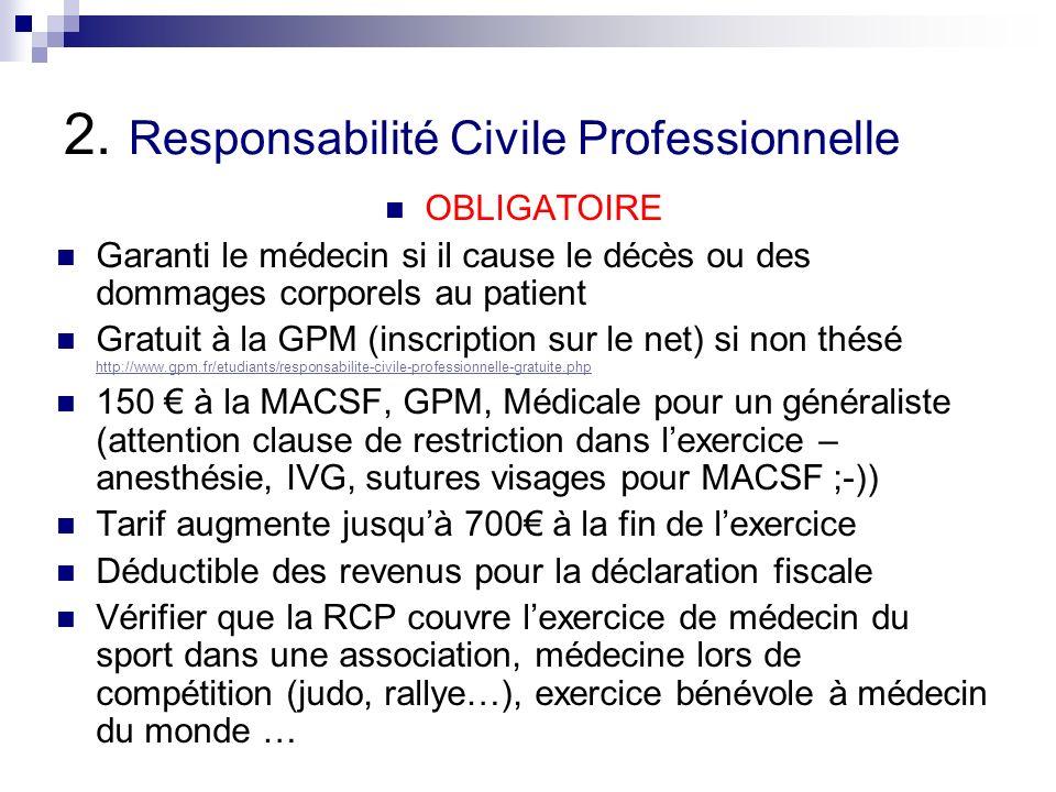 2. Responsabilité Civile Professionnelle
