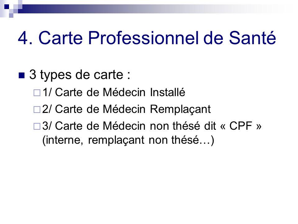 4. Carte Professionnel de Santé