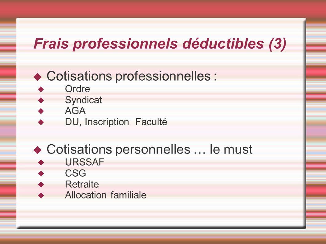 Frais professionnels déductibles (3)