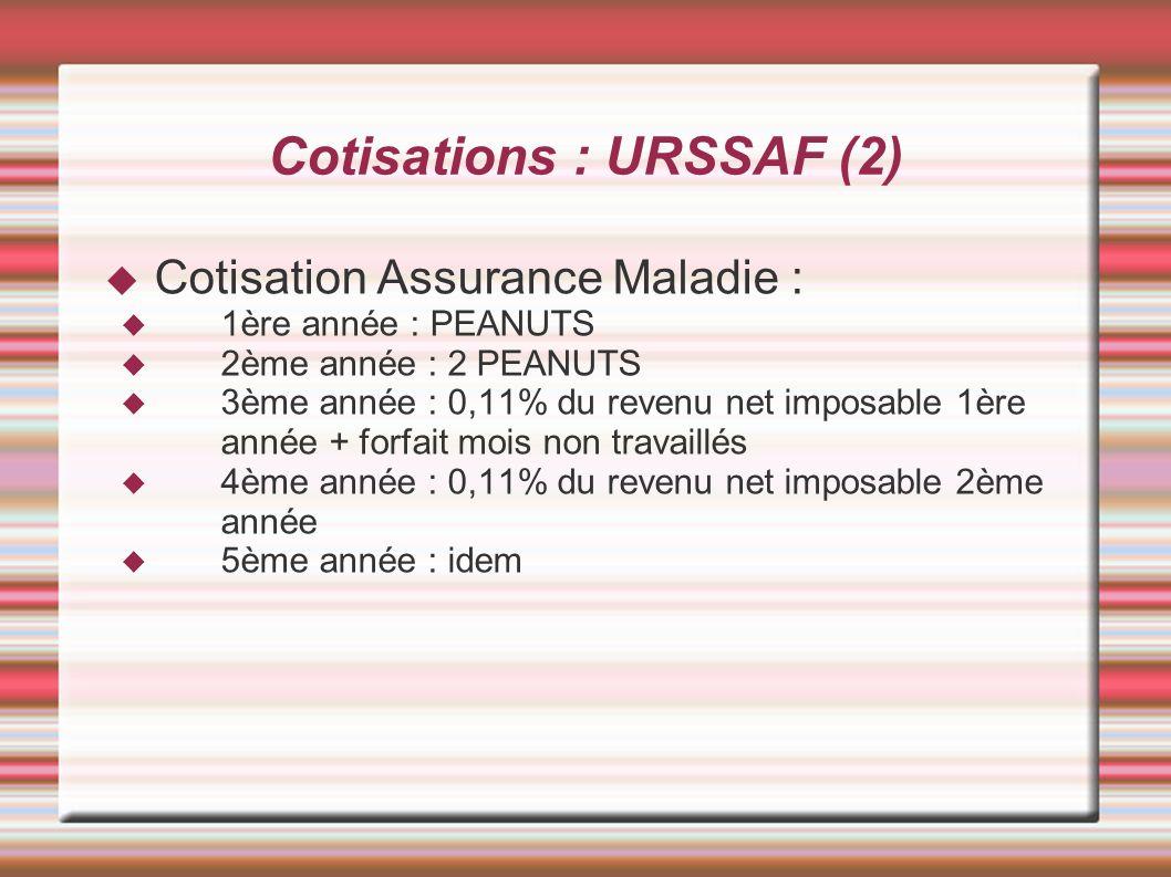 Cotisations : URSSAF (2)