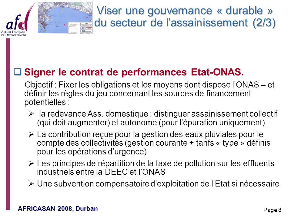 Viser une gouvernance « durable » du secteur de l'assainissement (2/3)