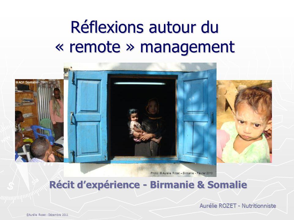 Réflexions autour du « remote » management