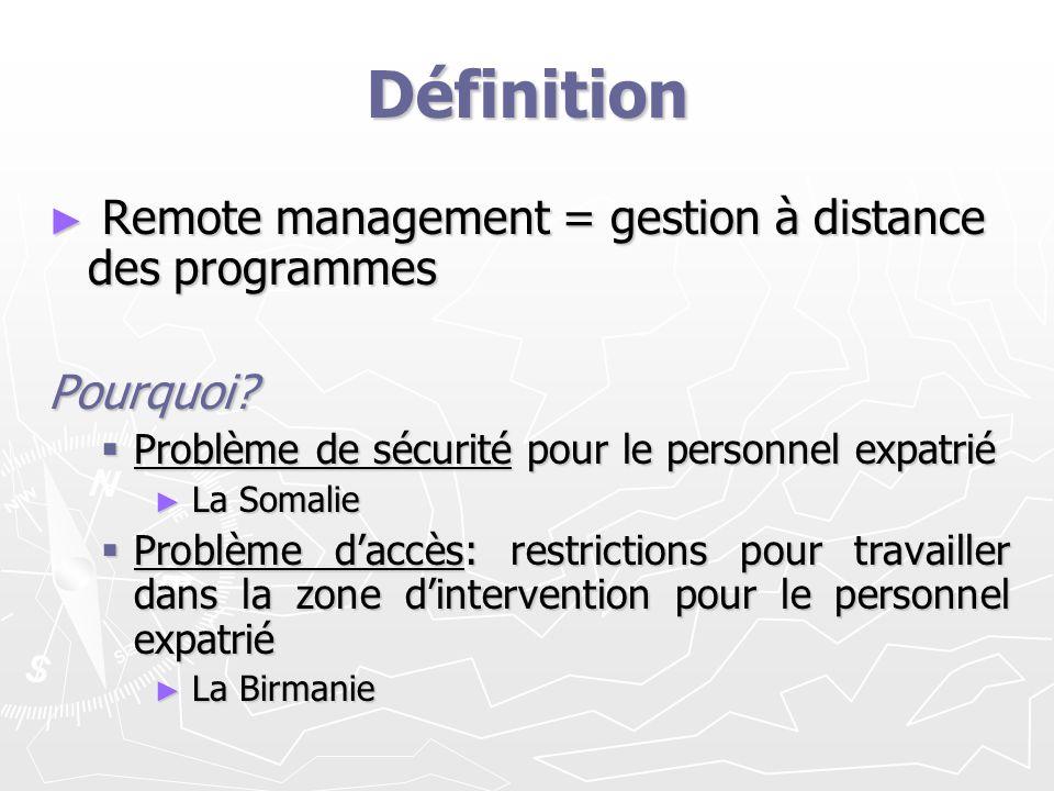 Définition Remote management = gestion à distance des programmes