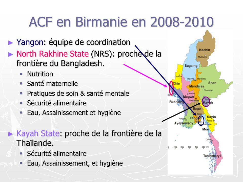 ACF en Birmanie en 2008-2010 Yangon: équipe de coordination