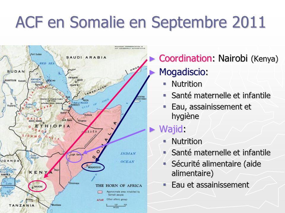 ACF en Somalie en Septembre 2011