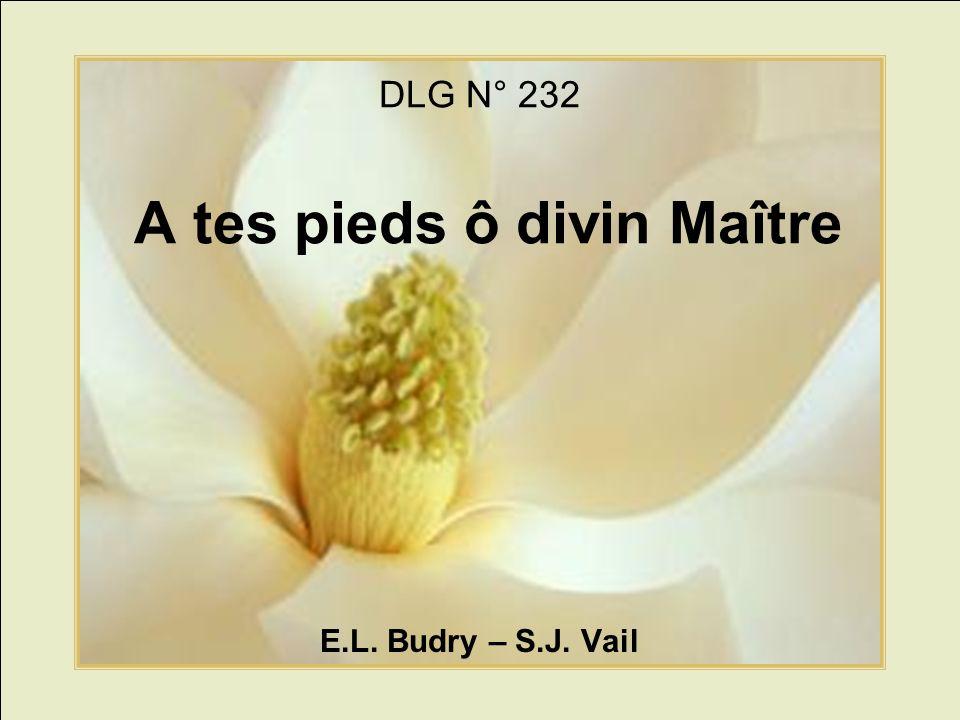 DLG N° 232 A tes pieds ô divin Maître