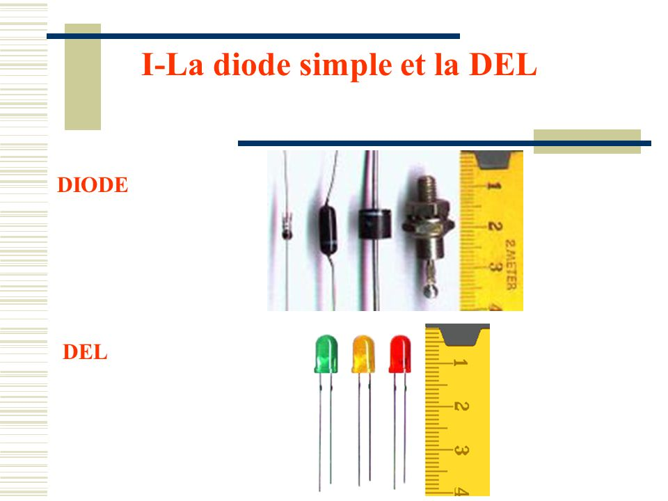 I-La diode simple et la DEL