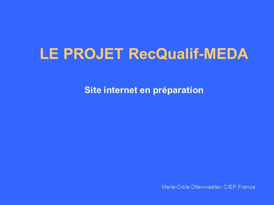 LE PROJET RecQualif-MEDA