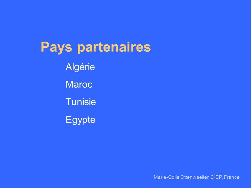 Pays partenaires Algérie Maroc Tunisie Egypte