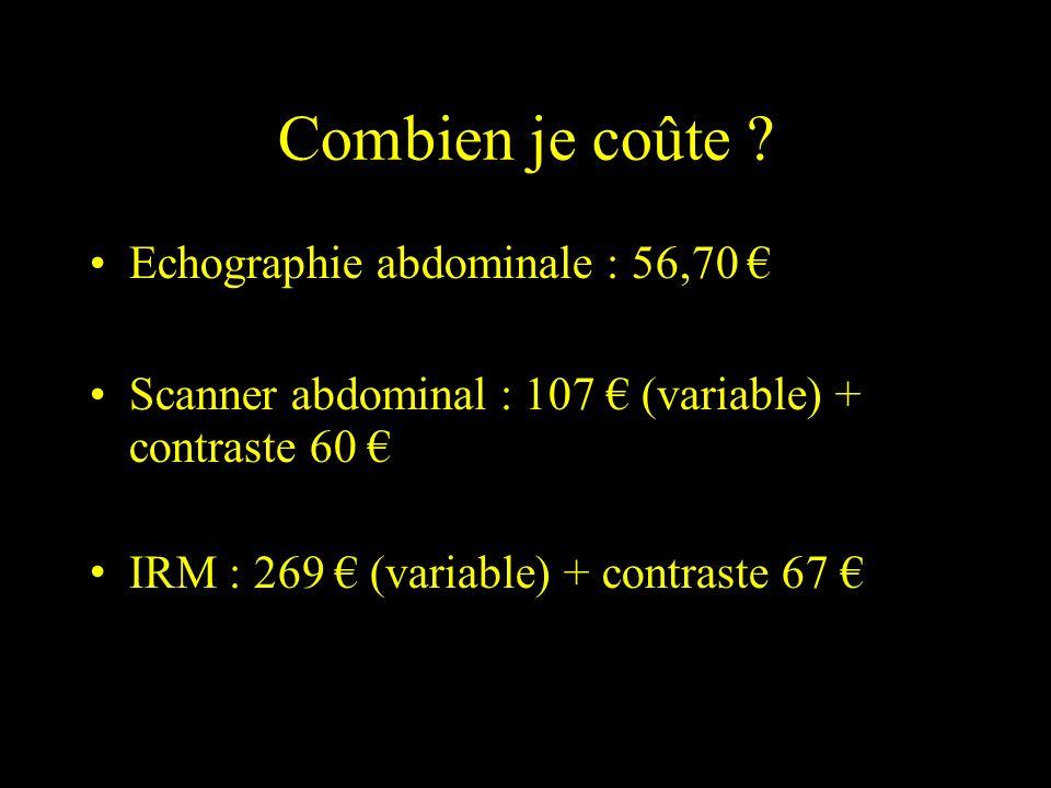 Combien je coûte Echographie abdominale : 56,70 €