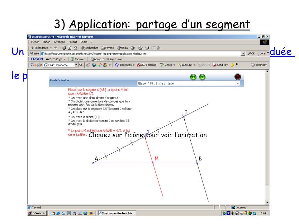 3) Application: partage d'un segment