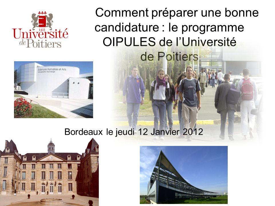 Comment préparer une bonne candidature : le programme OIPULES de l'Université de Poitiers