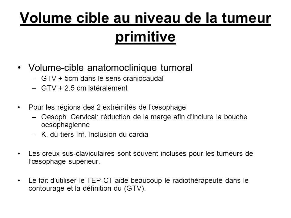 Volume cible au niveau de la tumeur primitive