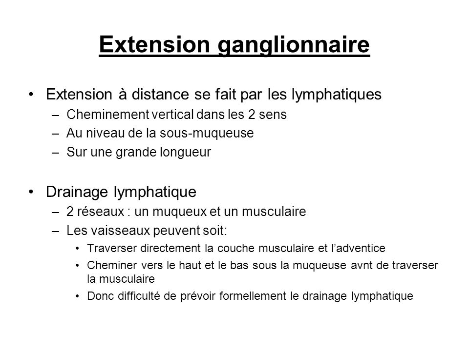 Extension ganglionnaire