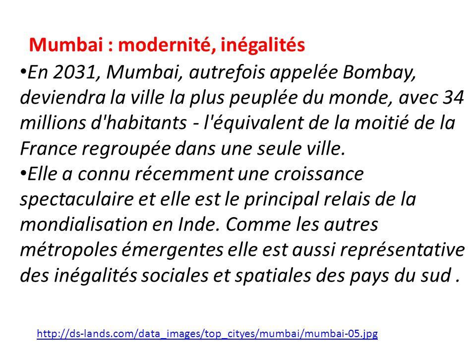 Mumbai : modernité, inégalités