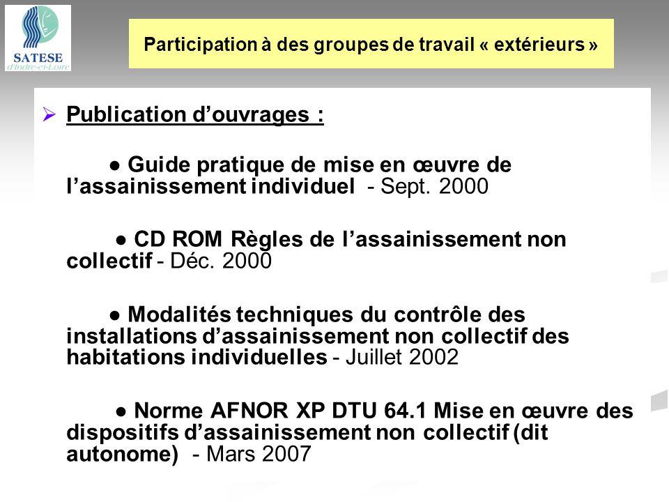 Participation à des groupes de travail « extérieurs »