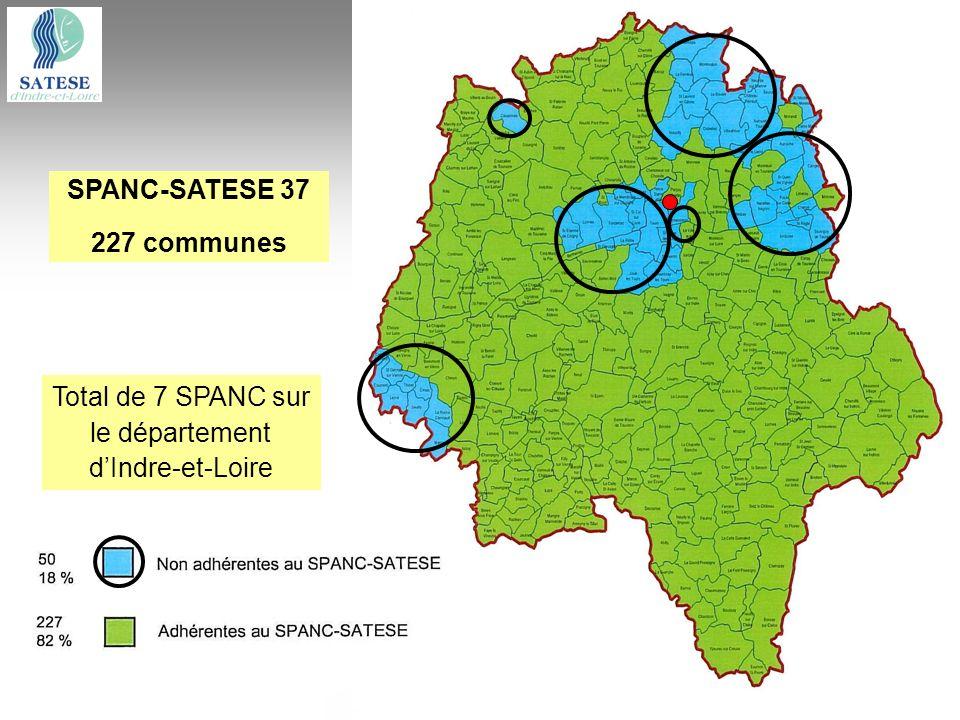 Total de 7 SPANC sur le département d'Indre-et-Loire
