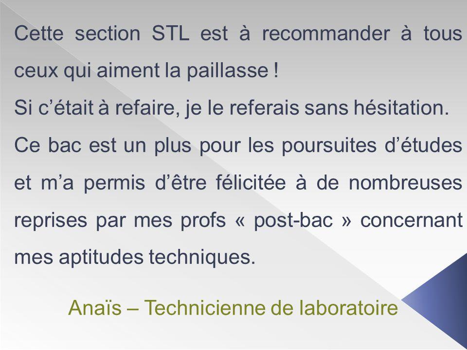 Anaïs – Technicienne de laboratoire