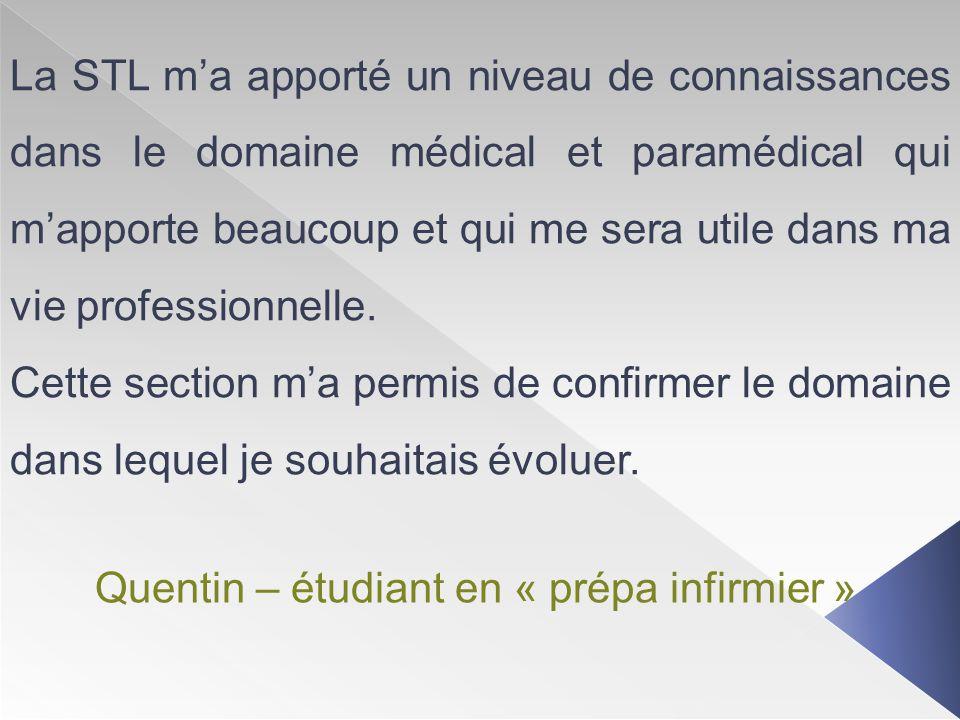 Quentin – étudiant en « prépa infirmier »