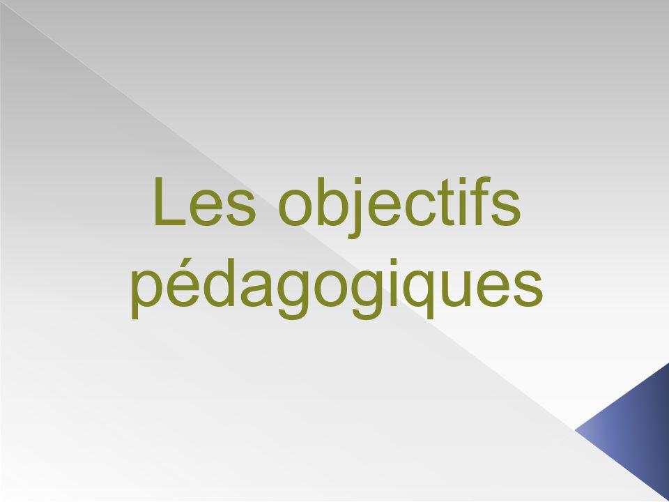 Les objectifs pédagogiques