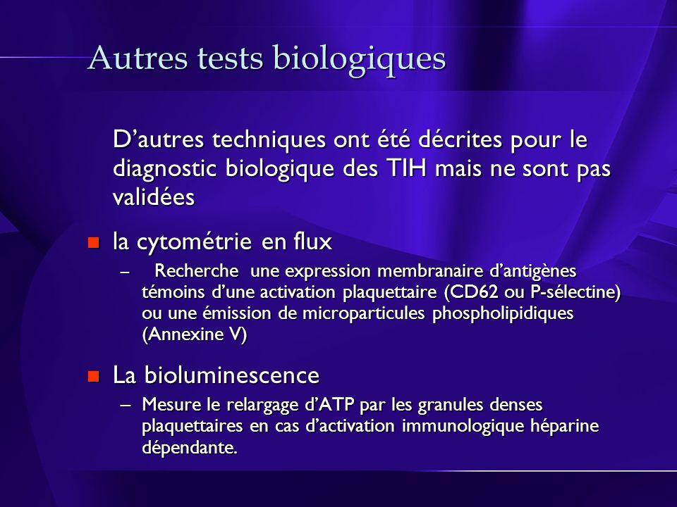 Autres tests biologiques