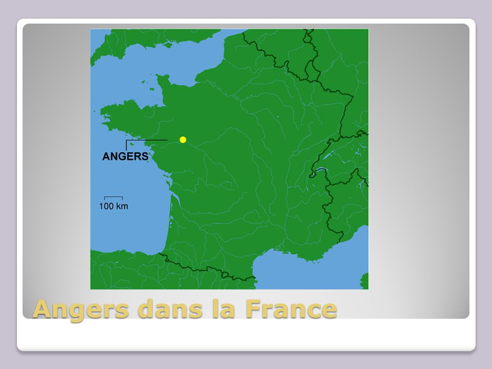 Angers dans la France