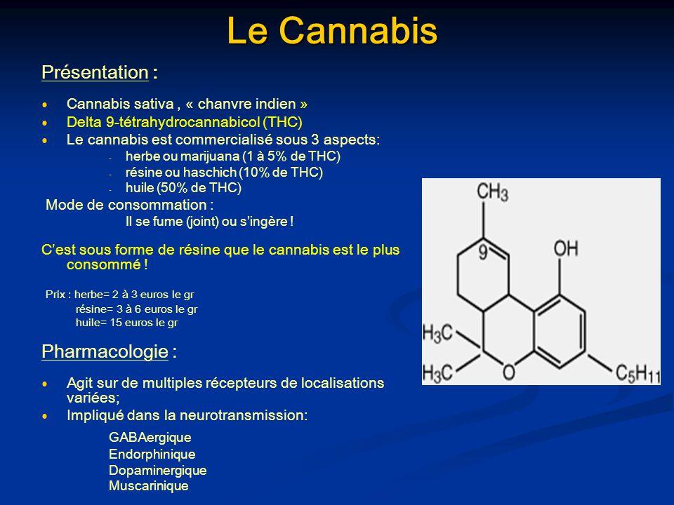 Le Cannabis Présentation : Pharmacologie : GABAergique