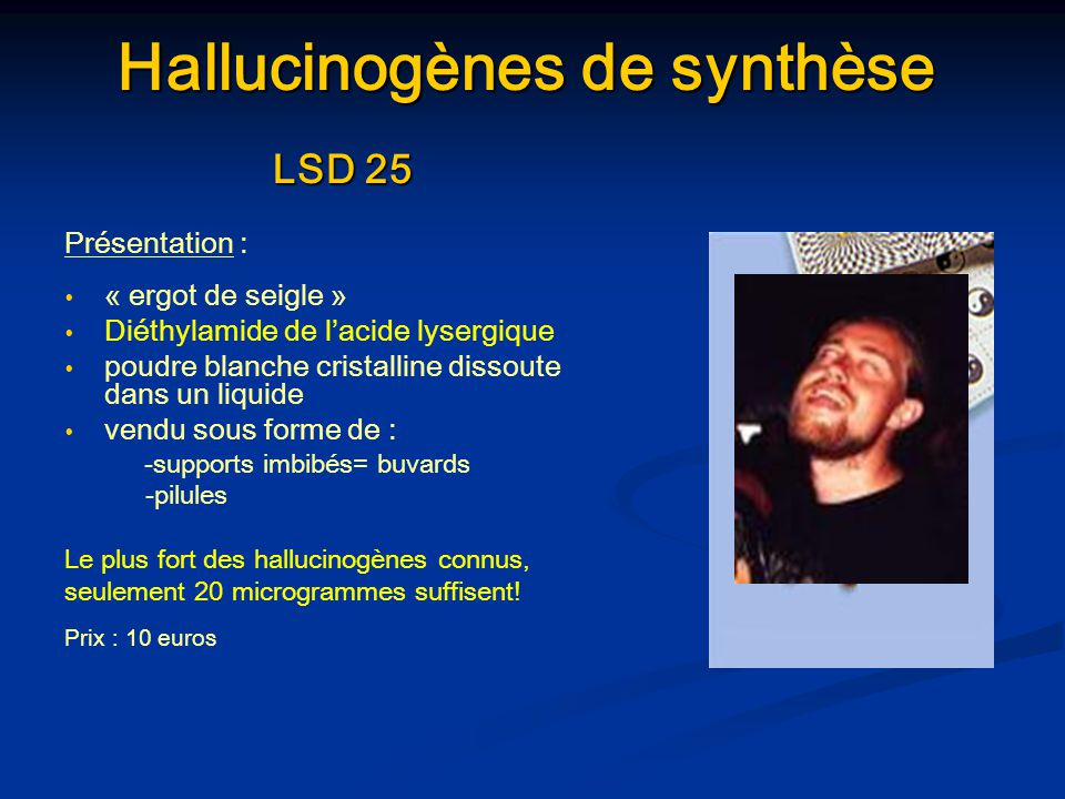 Hallucinogènes de synthèse