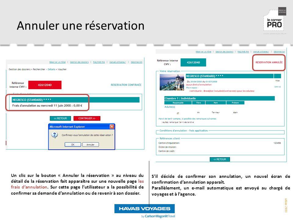 Annuler une réservation