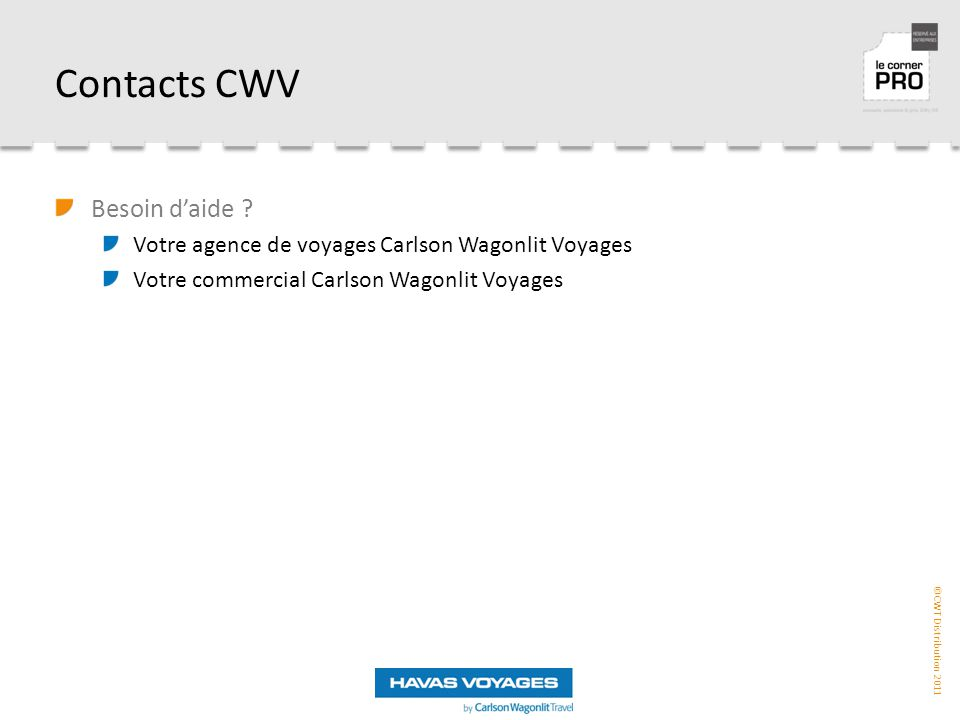 Contacts CWV Besoin d'aide