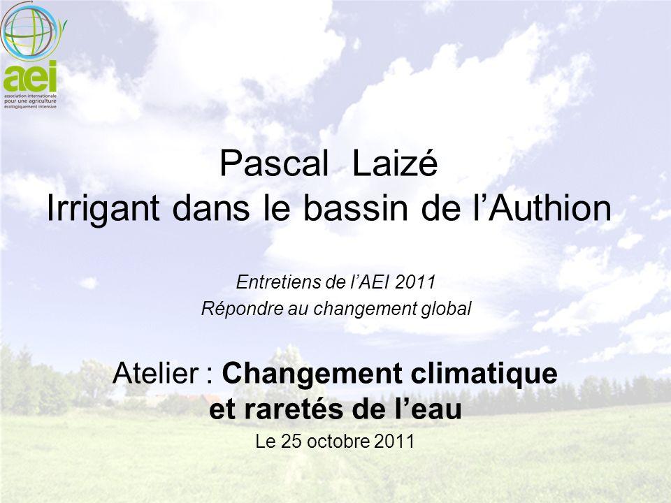 Pascal Laizé Irrigant dans le bassin de l'Authion