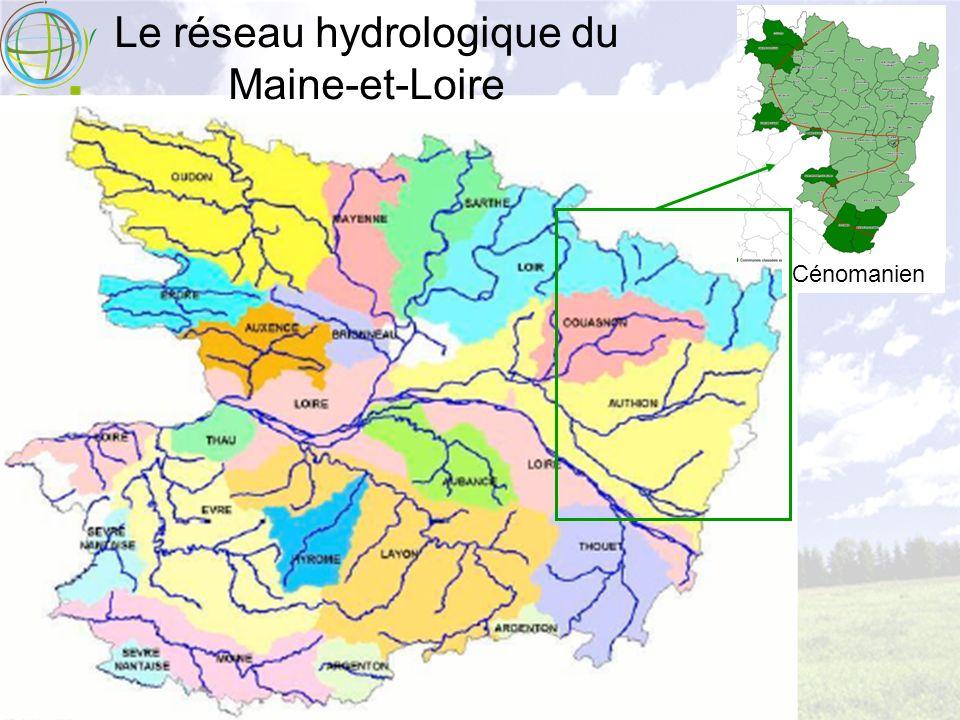 Le réseau hydrologique du Maine-et-Loire