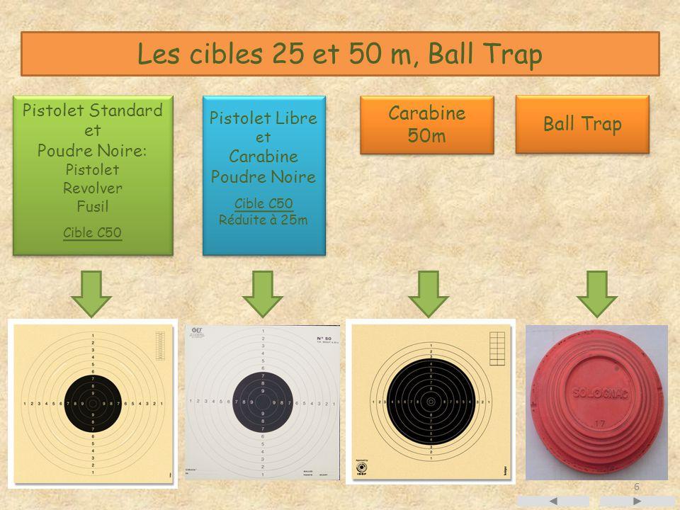 Les cibles 25 et 50 m, Ball Trap