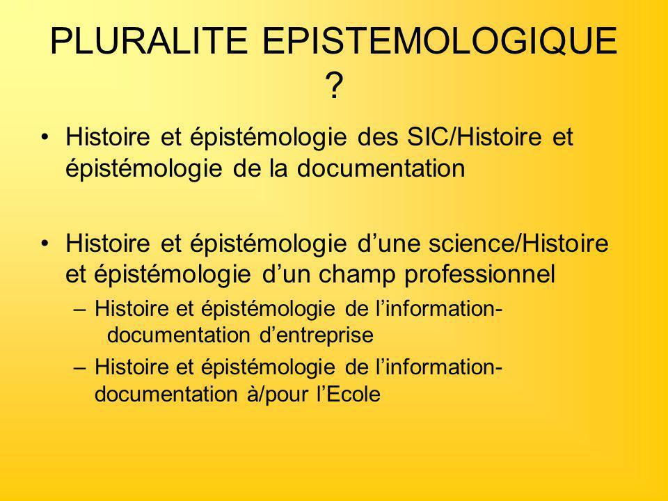 PLURALITE EPISTEMOLOGIQUE