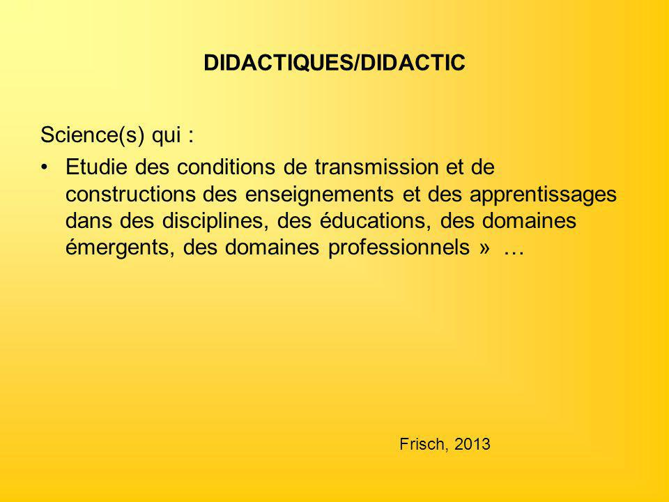 DIDACTIQUES/DIDACTIC
