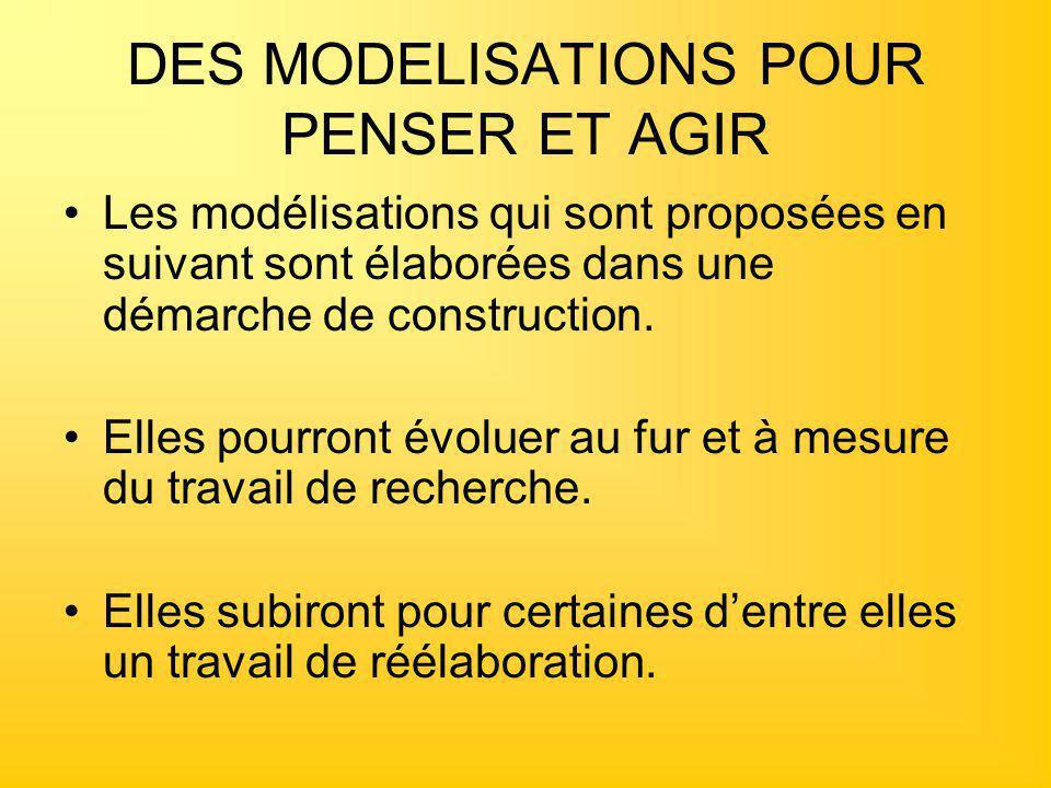 DES MODELISATIONS POUR PENSER ET AGIR