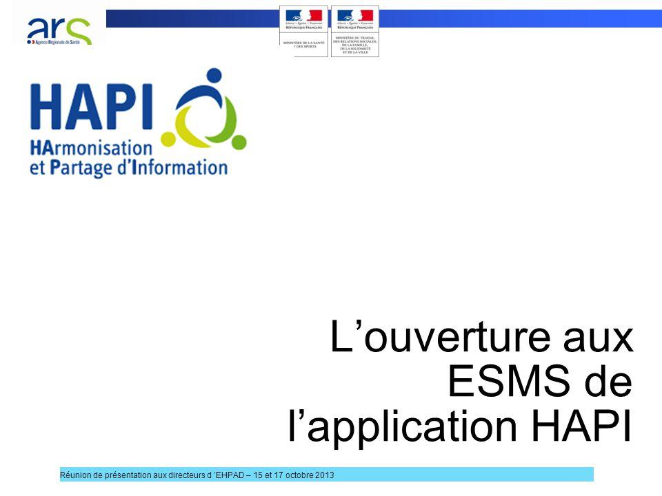 L'ouverture aux ESMS de l'application HAPI